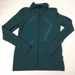 Lululemon full zip jacket teal size 8